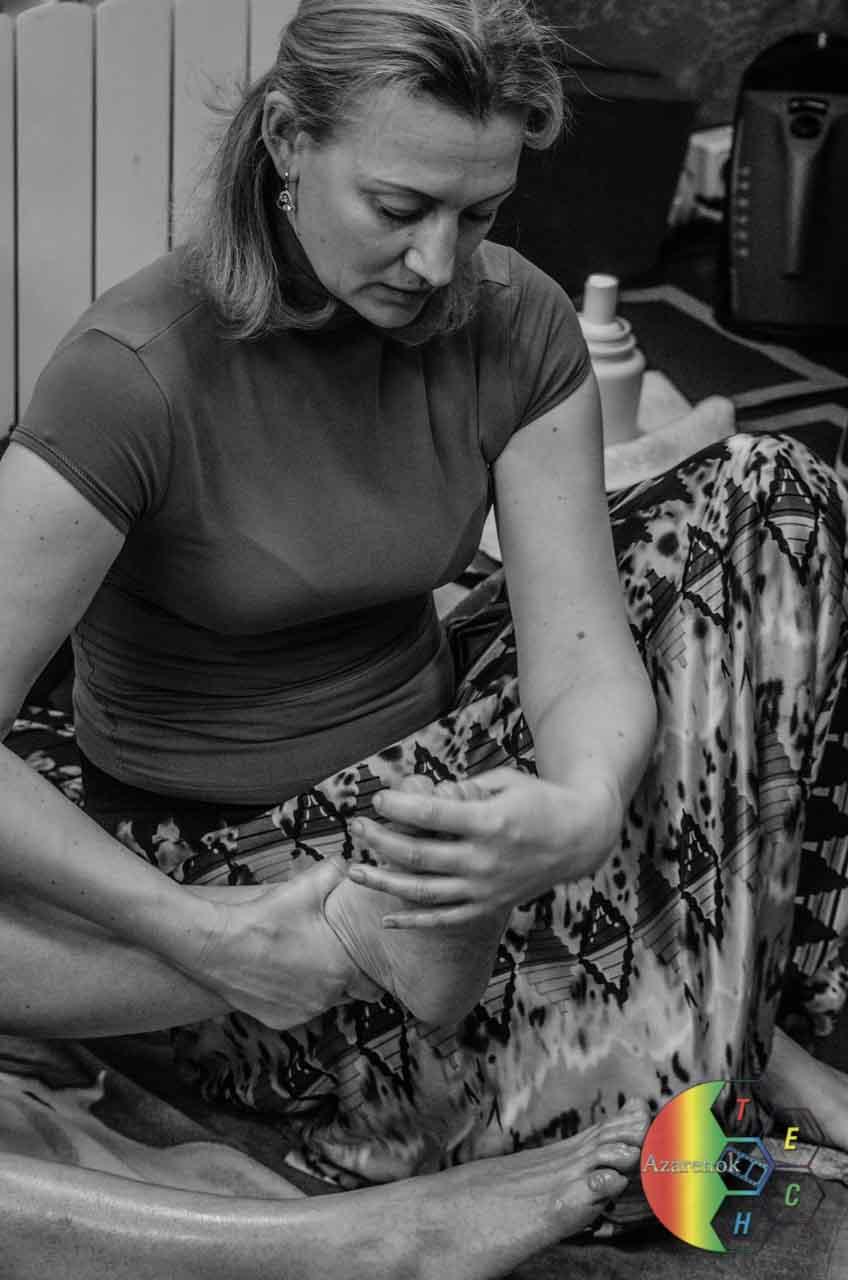 правильный массаж ног