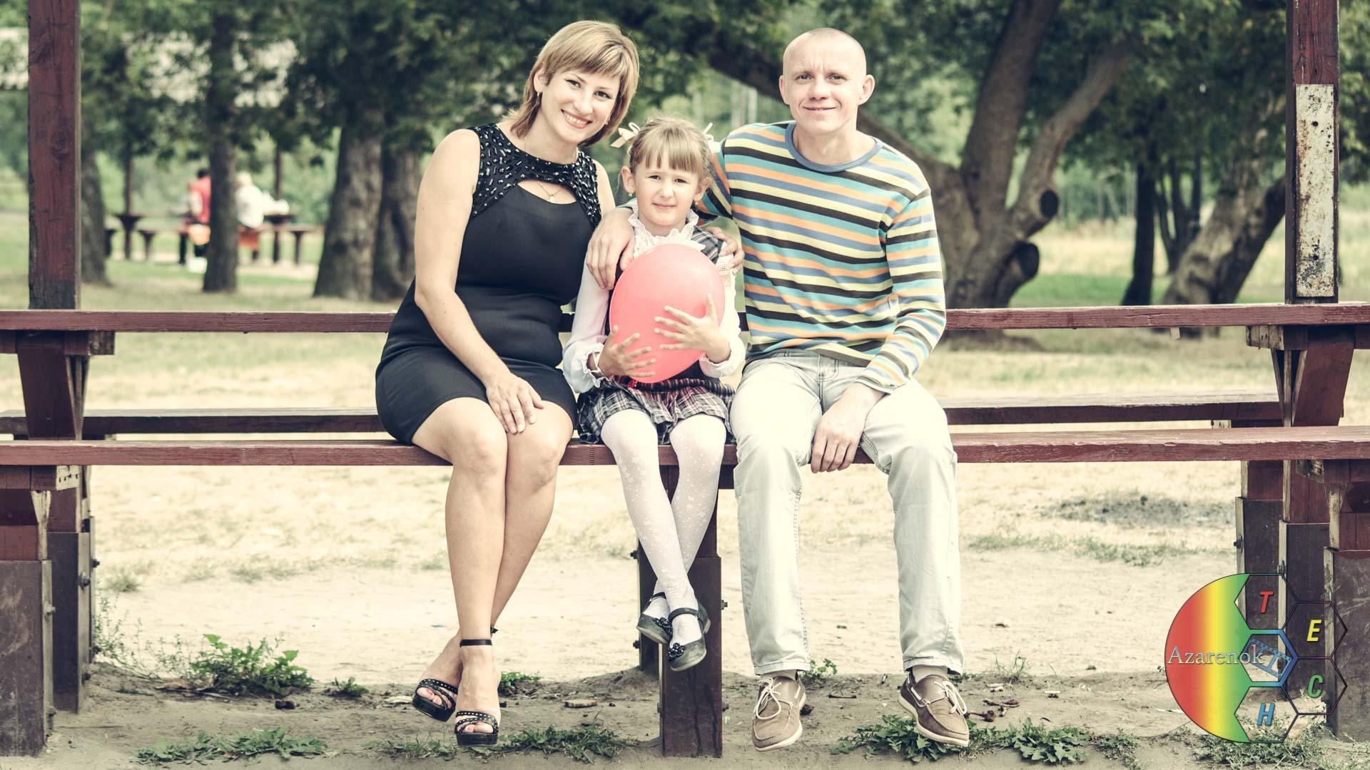отмечаем 1ое сентября с родителями