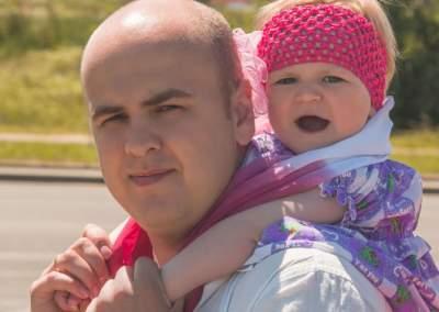 Папа с дочкой семейная фотосессия
