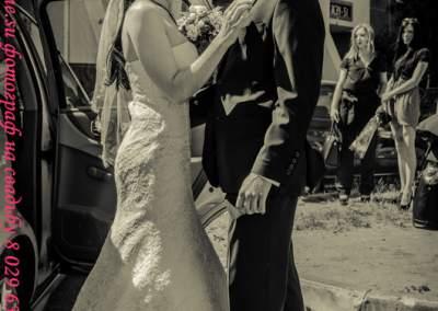 Свадебное черно-белое фото