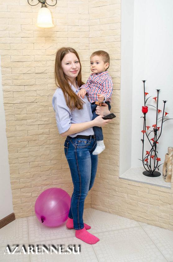 детская фотосессия с тетей