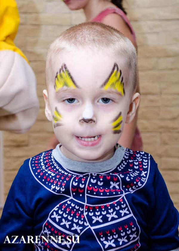 детская фотосессия маленький тигр