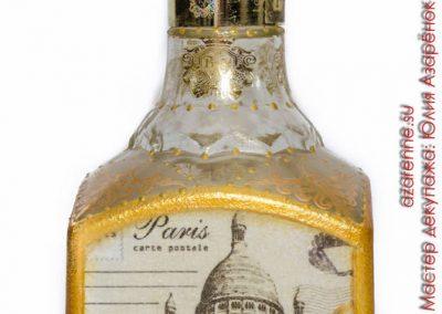 украшение бутылки коньяка