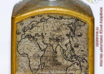 коньяк с картой мира